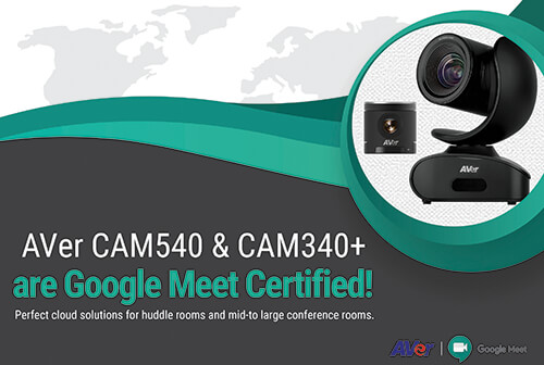 Aver Adds Two Cameras As Google Certified Hardware