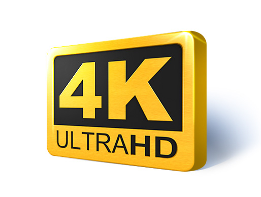 Super Sharp Accurate Color Up To 4K